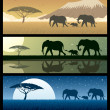 Stock Vector: AfricLandscapes 2