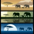 Africa Landscapes 2 — Vector de stock