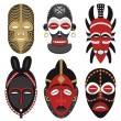 Stock Vector: Africmasks 2