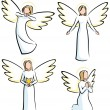 Stock Vector: Angels