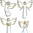 Angels - Stock Vector
