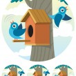 Birdhouse — Vector de stock #6494162