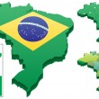 Brazilien — Stockvektor  #6494269