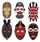 African masks 2 — Stock Vector