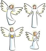 Angels — Vector de stock