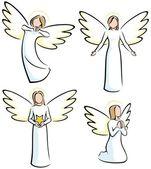 ангелы — Cтоковый вектор