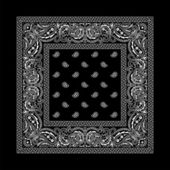 Bandana-2 (Black) — Vector de stock