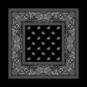 Bandana-2 (negro) — Vector de stock