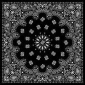 Siyah bandana — Stok Vektör