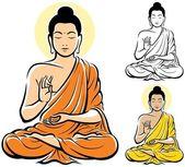 Boeddha — Vector de stock