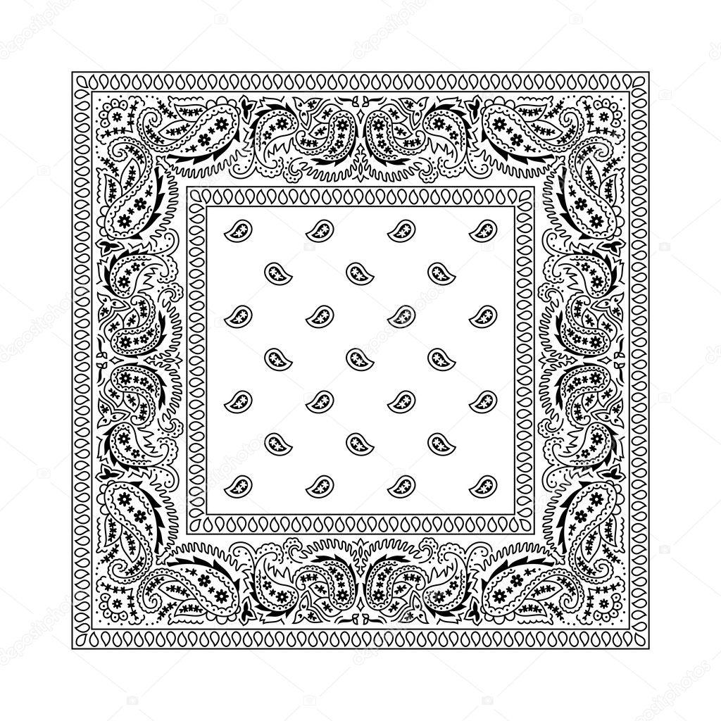 Bandana 2 White Vector De Stock Malchev 6494110