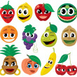 Cartoon Fruits - Stock Vector