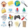Royalty-Free Stock Vector Image: Cartoon Internet Icons Part 1