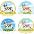 Royalty-Free Stock Vector Image: Dairy Products Labels