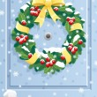 Royalty-Free Stock Vector Image: Door Wreath