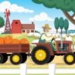 Autumn Farm — Stock Vector