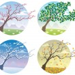 Royalty-Free Stock Vektorgrafik: Four Seasons