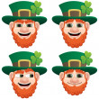 Leprechaun Head — Stock Vector