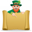 Leprechaun Scroll 2 — Stock Vector