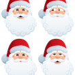 Santa's Head — Stock Vector