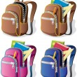 School Backpack — Imagen vectorial