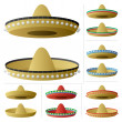 Stock Vector: Sombrero