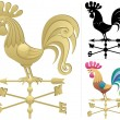 Stock Vector: Weather Vane