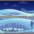 Winter Landscapes - Stock Vector