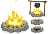 Campfire — Stock Vector