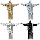 Christ избавитель — Cтоковый вектор