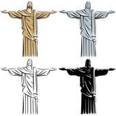 Christ the Redeemer — Stock Vector