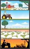 Farm Landscapes — Stockvector