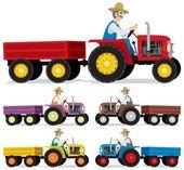 Agricoltore — Vettoriale Stock