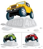 Off-Road 4x4 — Stock Vector