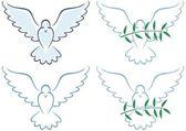 和平鸽子 — 图库矢量图片