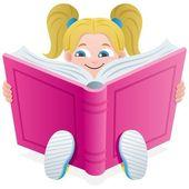 Reading Girl — Stock Vector