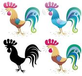 Rooster — Vector de stock