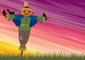 Scarecrow Background 2 — Stock Vector