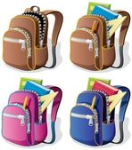 School Backpack — Vettoriale Stock