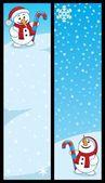 Snowman Banners — Stock Vector