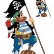 Stock Vector: Pirate