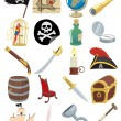 Pirate Icons — Stock Vector