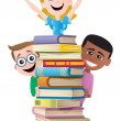 Books and Kids — Stock Vector