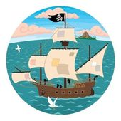 Pirate Ship — Stock Vector