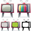 Stock Vector: Retro TV