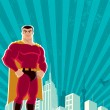 Royalty-Free Stock Vector Image: Superhero City