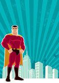 Cidade de super-herói — Vetorial Stock
