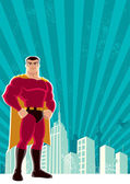 Superhero City — Stockvektor