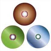 Compact digital discs — Stock Vector