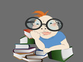 Little Reader — Stock Vector